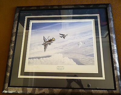 Framed Signed Limited Edition Edward Ash Print Of Lightning Strike