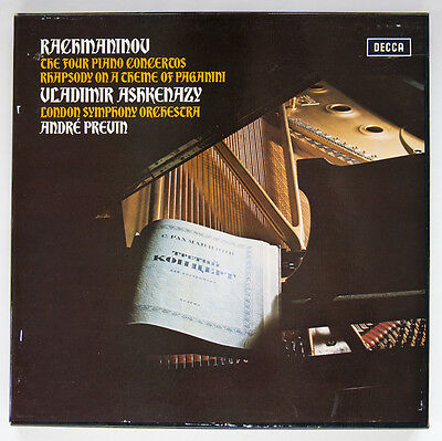 Rachmaninov boxed Set of Vinyl LPs in perfect condition: 4 piano concertos