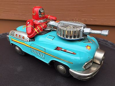 Original 1950's Robby In Studebaker Space Car by Nomura (Japan) C9+