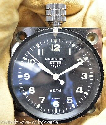 HEUER MASTER-TIME 8 DAYS Vintage SIXTIES DASHBOARD WATCH