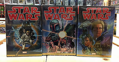Star Wars: The Original Marvel Years Omnibus Volumes 1 2 3  NEW & SEALED (2015)