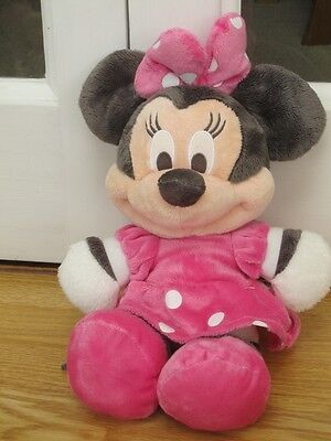 """Large 14-16"""" Pink Disney Minnie Mouse Plush Soft Toy By Posh Paws"""