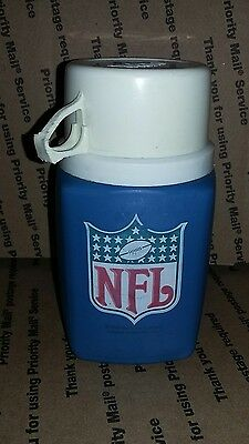 Vintage 1975 Nfl Football Thermos With Cup & Lid-Cheap!-Look!