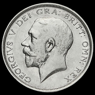 1913 George V Silver Half Crown, Rare, AVF / VF