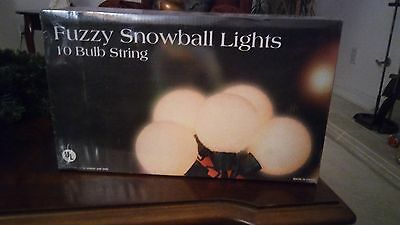 2 boxes New Fuzzy Snowball Lights  string lites White Wedding Party Garden Yard
