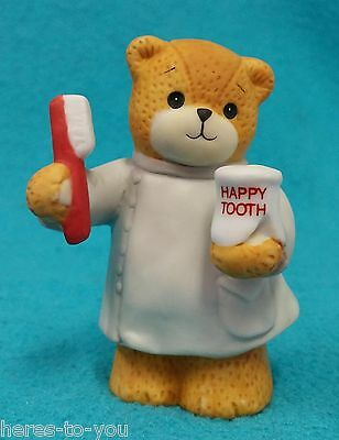 1992 Lucy & Me Dentist Teddy Bear Figure/Figurine~Happy Tooth/Toothbrush~Rigg
