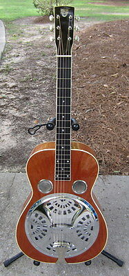 2004 Usa Gibson Dobro D-27 Acoustic Electric Square Neck Resonator Guitar & Ohsc