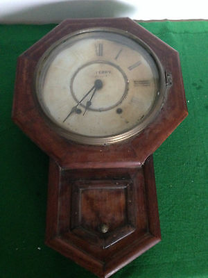 VINTAGE ~  Charming  'Pendulum' lovely Wood Cased  'WALL CLOCK'