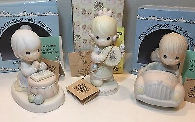 Enesco 1986 Member's Only Figurines & Special Edition Figurine: Lot of 3