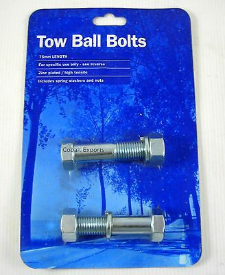 Tow Ball Bolts 75mm Length Zinc High Tensile