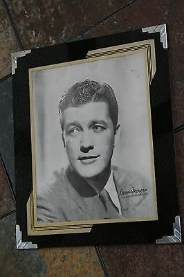 Art Deco - 40's - Reverse Painted Photograph Frame - Dennis Morgan