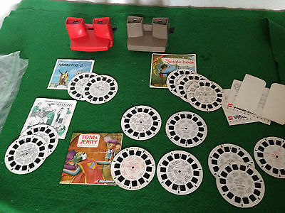 VIEWMASTER (x2) VINTAGE WITH OVER A DOZEN REELS (JOB LOT)