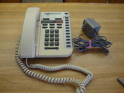 Vintage Almond Vista 200 Northern Telecom Desk Telephone Made In Canada