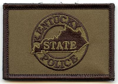 """Kentucky State Police Department 3"""" Patch Law Enforcement Officer LEO Olive"""