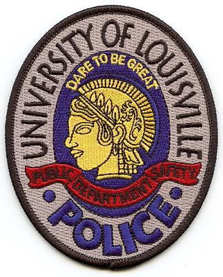 """University of Louisville KY 4.25"""" Patch Police Law Enforcement Officer Left"""