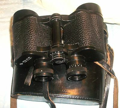 HANDSOME 6NU2 12x40 FIELD BINOCULARS  Made In USSR RUSSIAN WITH FITTED CASE