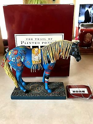 2004 Trail of Painted Ponies,BLUE MEDICINE 4/E  9,550 Original ,Box and ,Card
