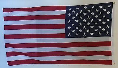 LARGE US FLAG MADE IN AMERICA JULY 4th INDEPENDENCE DAY MANCAVE BAR COTTAGE
