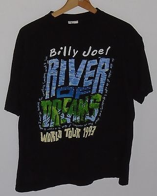 Vintage Billy Joel 1993 River Of Dreams World Tour Official T-Shirt Size Large