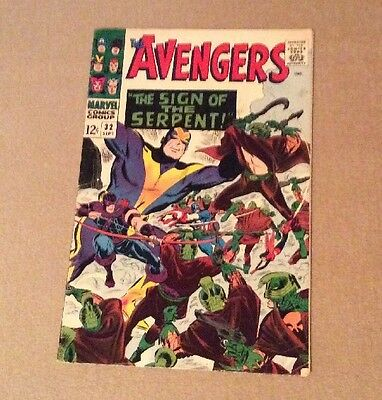 1966 The Avengers #32 Marvel Sign Of The Serpent Silver Age Nice LOOK