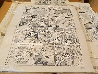Vintage Buck Rogers Sunday Black & White Comic Copies #424 & 425  USED