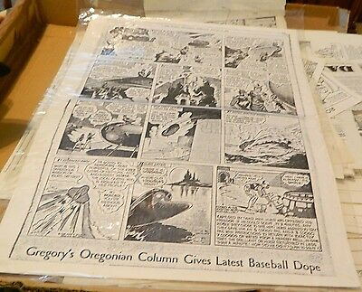 Vintage Buck Rogers Sunday Black & White Comic Copies #270 & 271  USED