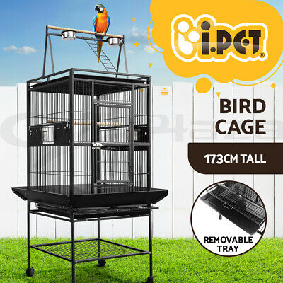 i.Pet 173CM Bird Cage Parrot Aviary Pet Stand-alone Budgie Perch Castor Wheels L