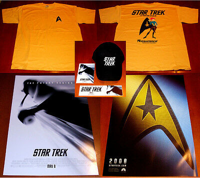 Star Trek 2008 Promo Movie Lot Posters, T-Shirt, Baseball Cap, Stickers Nm Cond.