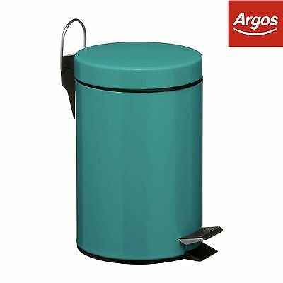 3 Litre Pedal Bin with Plastic inner - Turquoise -From the Argos Shop on ebay