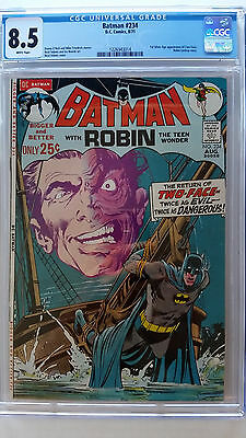 Batman #234 CGC 8.5 VF+    1st Silver Age Appearance Two-Face