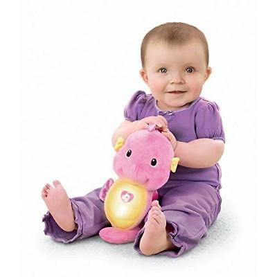 Fisher-Price Soothe and Glow Seahorse, Pink New