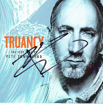 Pete Townshend The Who Hand Signed Autographed Truancy CD Album Booklet