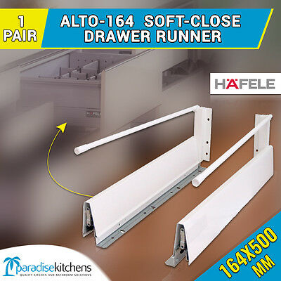 1 x alto-164 drawer runners kitchen vanity 500mm soft close CABINET cupboard pot