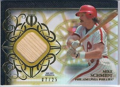 2015 Topps Tribute Relics Gold Patch #TRMS Mike Schmidt #7/25