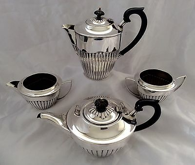 Fine Sheffield Art Deco Queen Anne Style Silver Plated Tea Set By PLATO c.1930