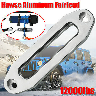 10'' 12000lbs Hawse Aluminum Fairlead For Winch Cable Rope Guide Offroad 4WD