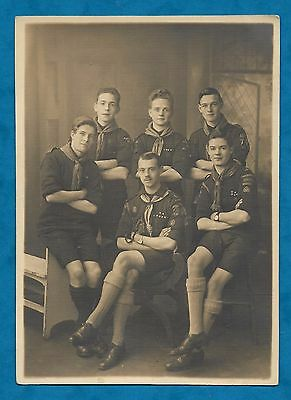 1920's B/w Photo Of Boy Scouts - Nottingham Rovers