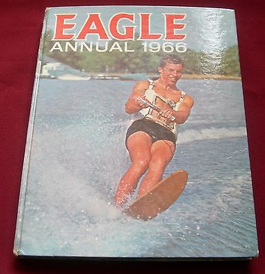 VINTAGE EAGLE ANNUAL / book 1966 featuring Dan Dare very good condition FREE P&P