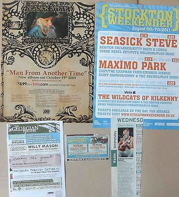 SEASICK STEVE : CUTTINGS COLLECTION -adverts-
