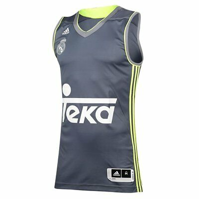 adidas Men's Real Madrid Replica Basketball Jersey Vest Gym Sport Fitness Casual