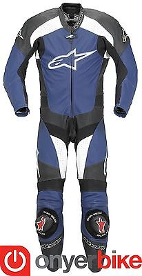 Alpinestars TZ-1 One 1 Piece Motorcycle Motorbike Race Leather Suit Blue SALE