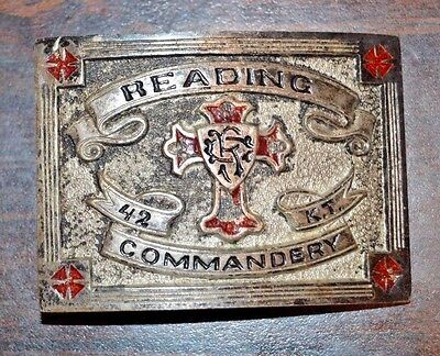 Vintage Knight's Templar Grand Commandery Reading, PA Buckle Masonic