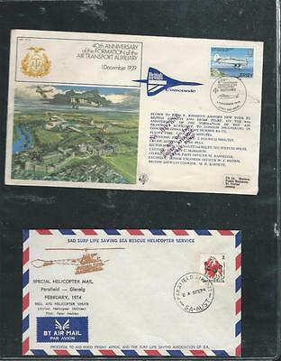 British Airways Concorde Flight Cover + Helicopter Mail  {6126]