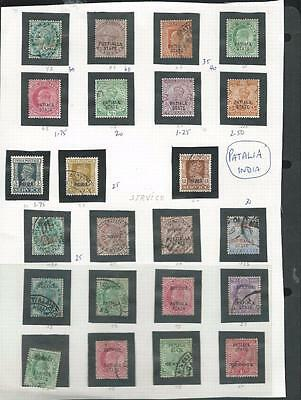 Patalia: Indian State good selection of stamps .Good CV [6150]