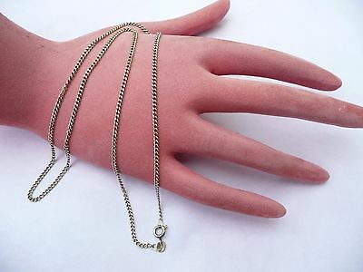 Superb Vintage Solid 9Ct Gold 20 Inches Curb Link Chain Necklace 6.3 Grams