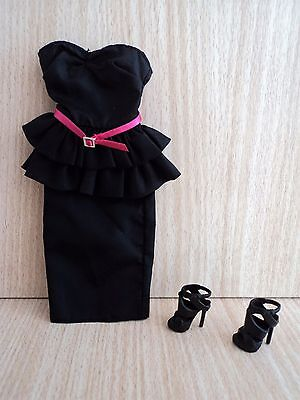 Barbie Black Dress From Basics Black Label Collection Model NO. 03 & Shoes