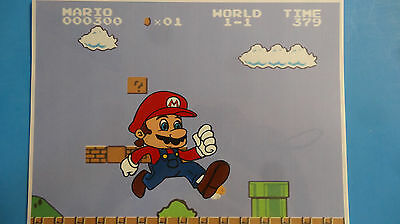 Hand Painted Super Mario Brothers Nintendo Animation Cel Cell Art
