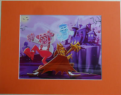 Matted Count Chocula Franken Berry Boo Berry Animation  Art Cel Cell