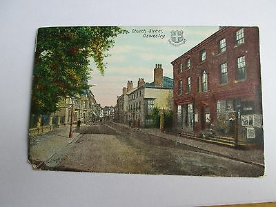 Postcard of Church Street, Oswestry Posted 1909