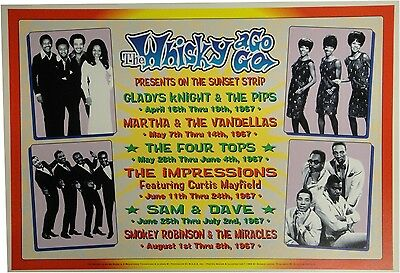 Gladys Knight The Pips The Four Tops Smokey Whisky a Go Go 13x19 UNSIGNED Poster